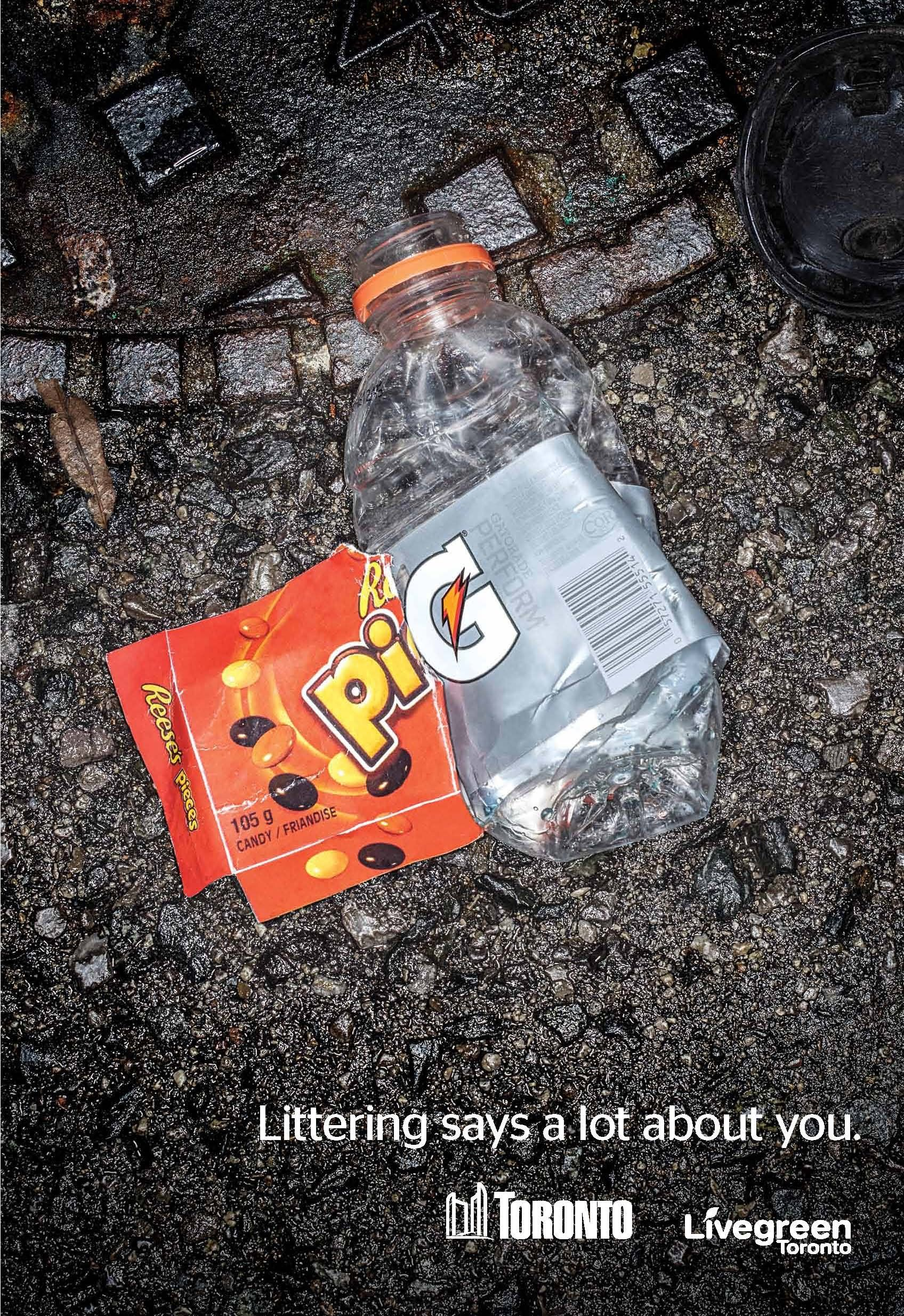 Littering Says a Lot About You By LiveGreen (Cancelled - Trademark Violation). - http://www.theinspiration.com/2014/09/littering-says-lot-livegreen-cancelled-trademark-violation/