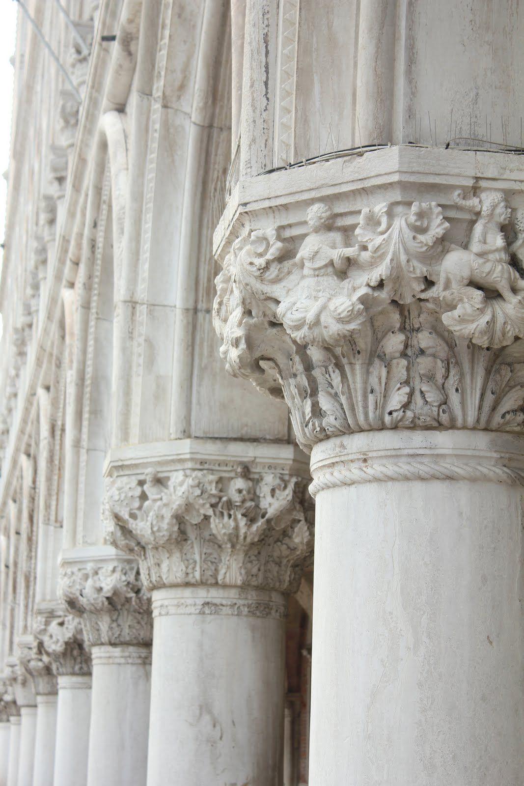 Beautiful white pillars.