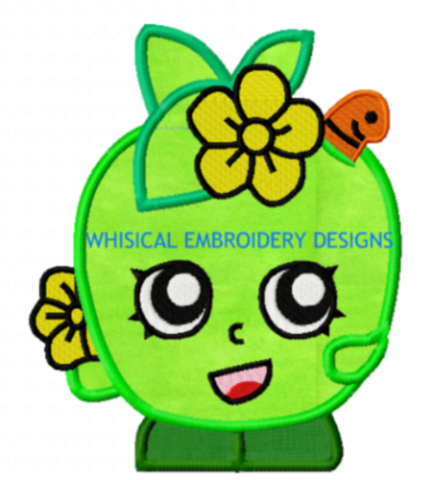 Apple Blossom Shopkins Machine Embroidery Applique Design