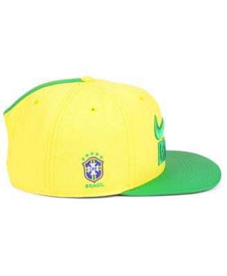 Nike Brazil National Team Snapback Cap - Yellow Green Adjustable in ... 23ceb04802d3
