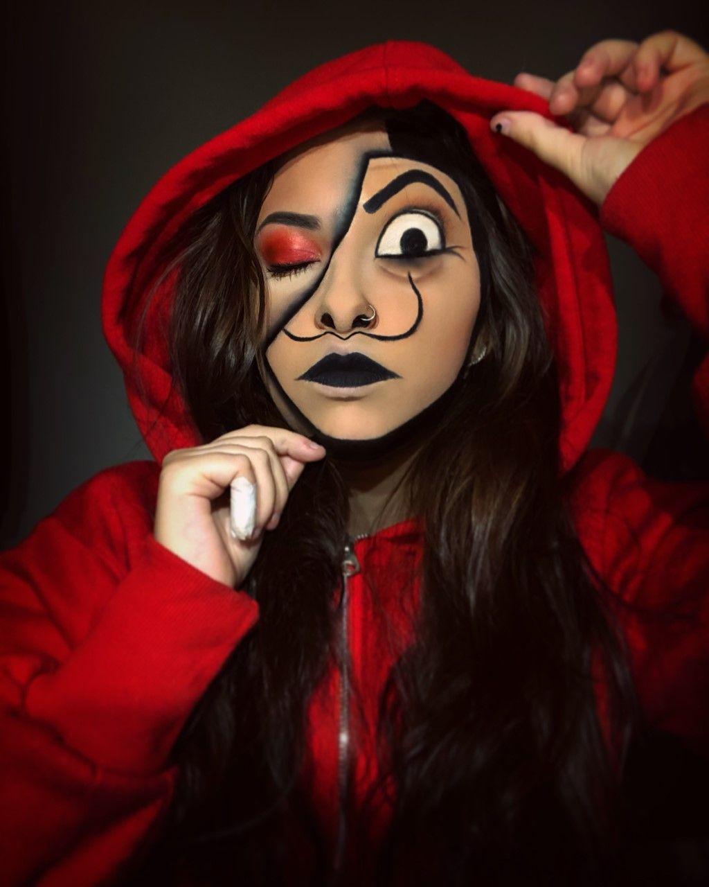 La Casa De Papel Maquillaje De Comic Maquillaje De Cara De Halloween Maquillaje De Personajes