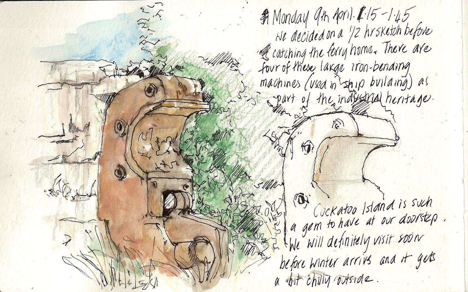 Urban Sketchers Australia: Cockatoo Island