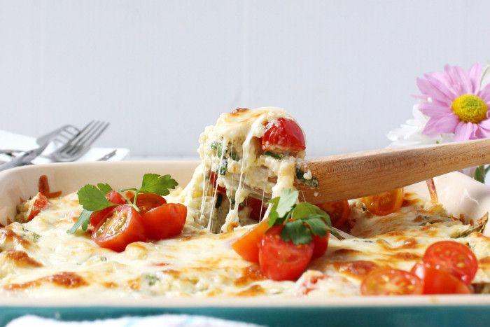 Cheesy Greek-Style Baked Quinoa