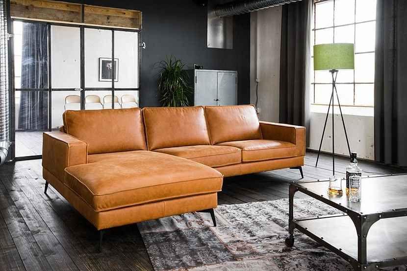 KasperWohndesign Sofa Leder Retro versch. Farben