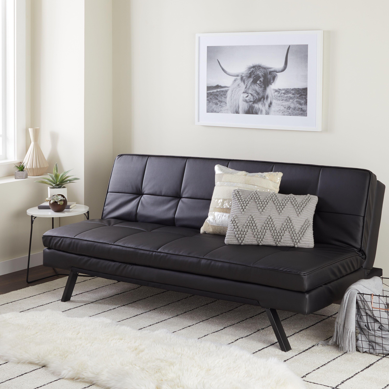 Abbyson Newport Faux Leather Futon Sleeper Sofa Free Shipping Today 12434243 Futonideas
