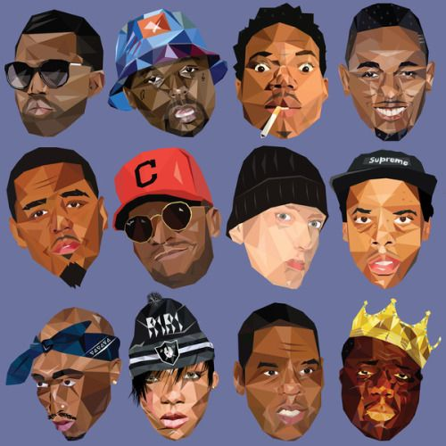 Rihanna Rappers Eminem Kanye West Jay Z J Cole Tupac Kid Cudi Kendrick Lamar Slim Shady Chance The Rapper Notorius Big Hip Hop Art Tupac Kids Chance The Rapper