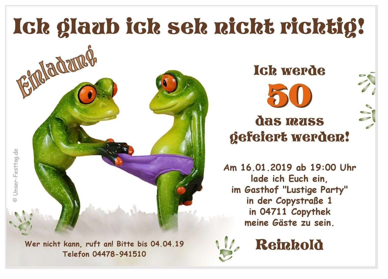 Einladungskarte Frosch Was Guckst Du Da Geburtstag Bilder Lustig