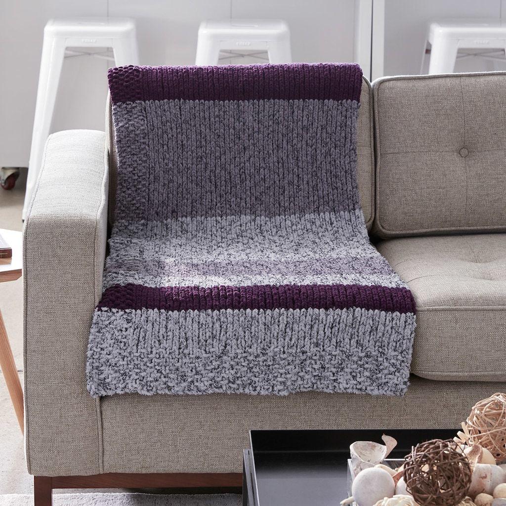 Bernat® Blanket™ Simple Stripes Knit Afghan   Afghan ...