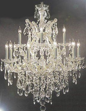 This Beautiful Chandelier Is Trimmed With Empress Crystal Tm A Great European Tradition Candle Style Chandelier Crystal Chandelier Lighting Crystal Lighting