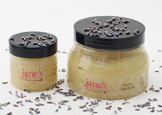 Jane's Short & Sweet also features tantalizing sugar scrubs made with local ingredients sourced from locations throughout greater Orlando.