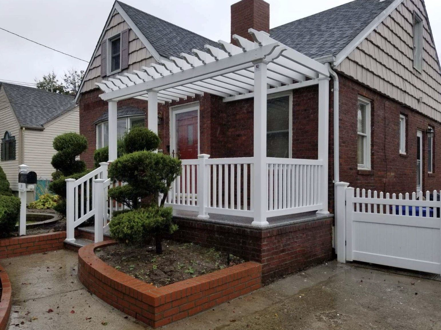 Best Custom Front Porch Pvc Pergola Attached Posts Columns To 400 x 300
