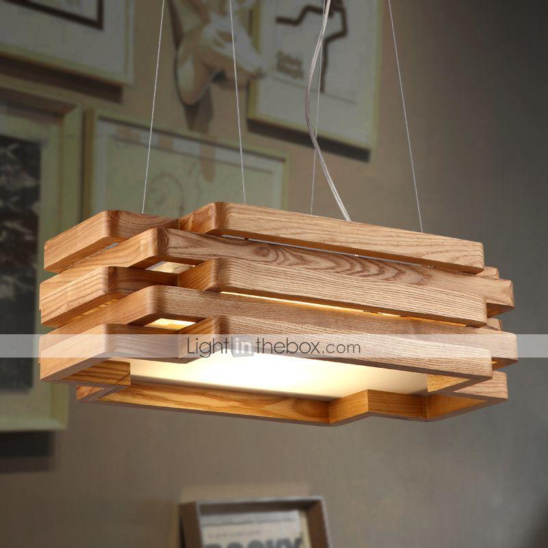 Lámparas Colgantes Luz Downlight Otros Madera / Bambú Mini Estilo 220-240V Bombilla incluida / LED Integrado images