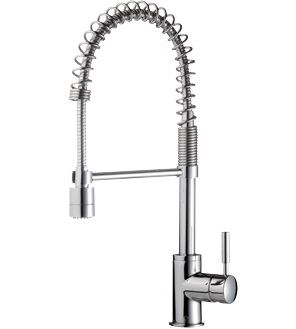 methven minimlaist spring pull down kitchen wels sink mixer tap with twin action - Kitchen Sink Mixers
