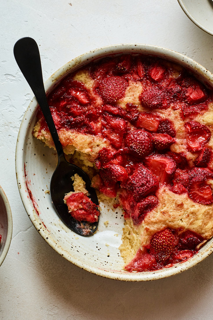 Strawberry Spoon Cake Recipe