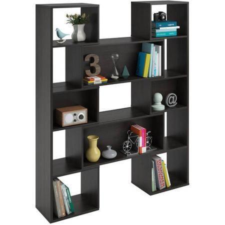 Altra Furniture Transform Sliding Bookcase, Dark Russet Cherry