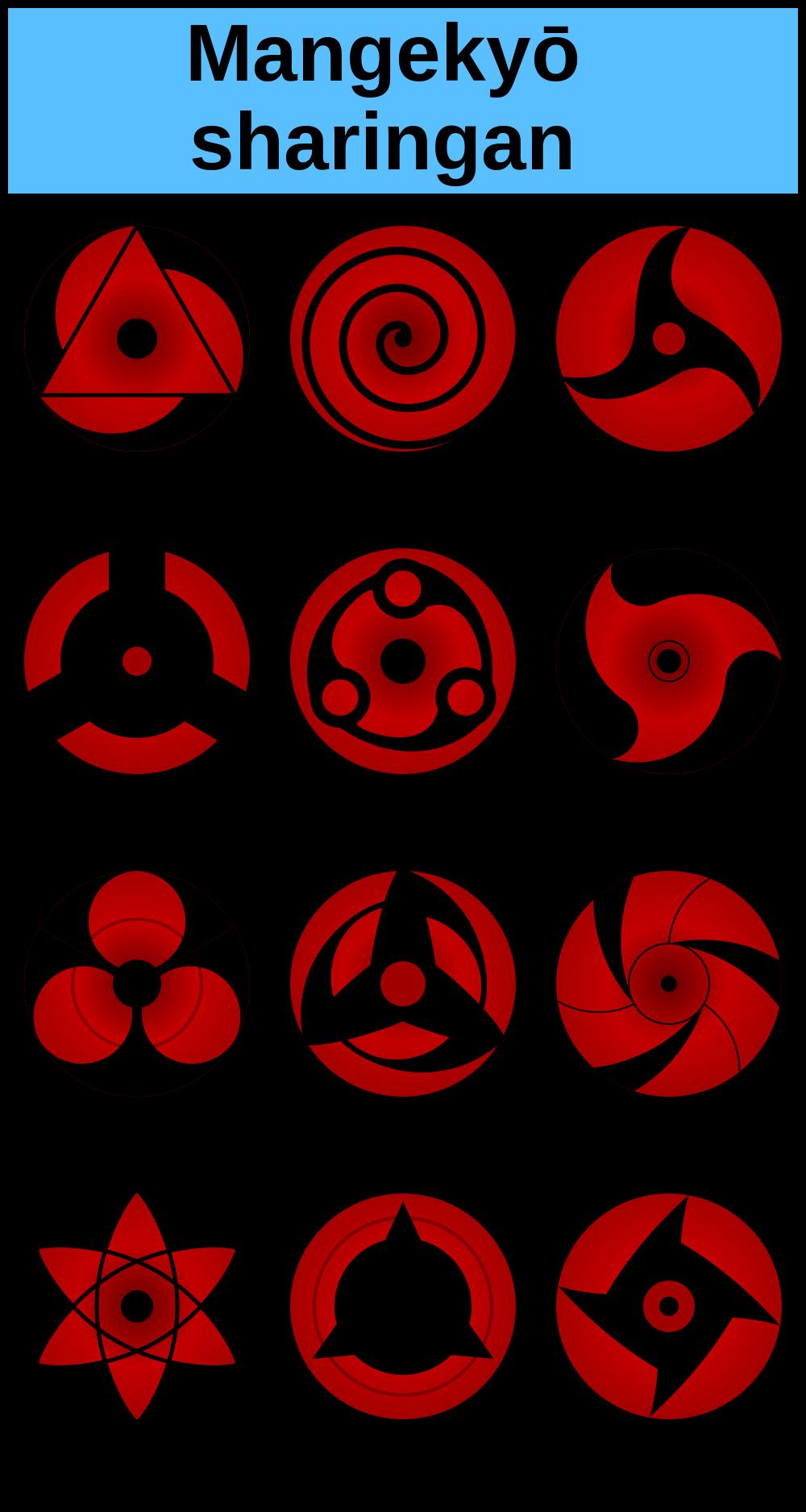 1000px Sharingan Evo 2 Svg Png 1000 1875 Mangekyou Sharingan Kekkei Genkai Naruto Kakashi