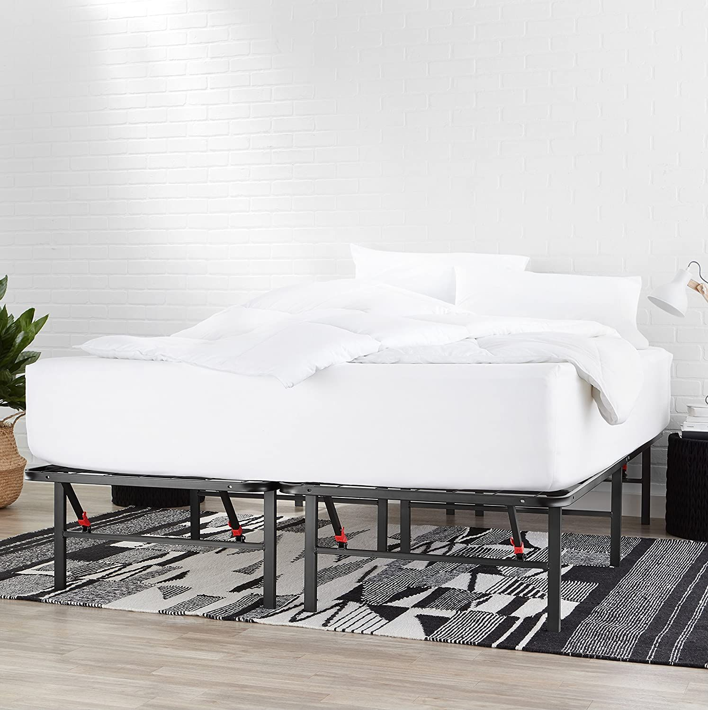 Amazonbasics Foldable Metal Platform Bed Frame With Tool Free