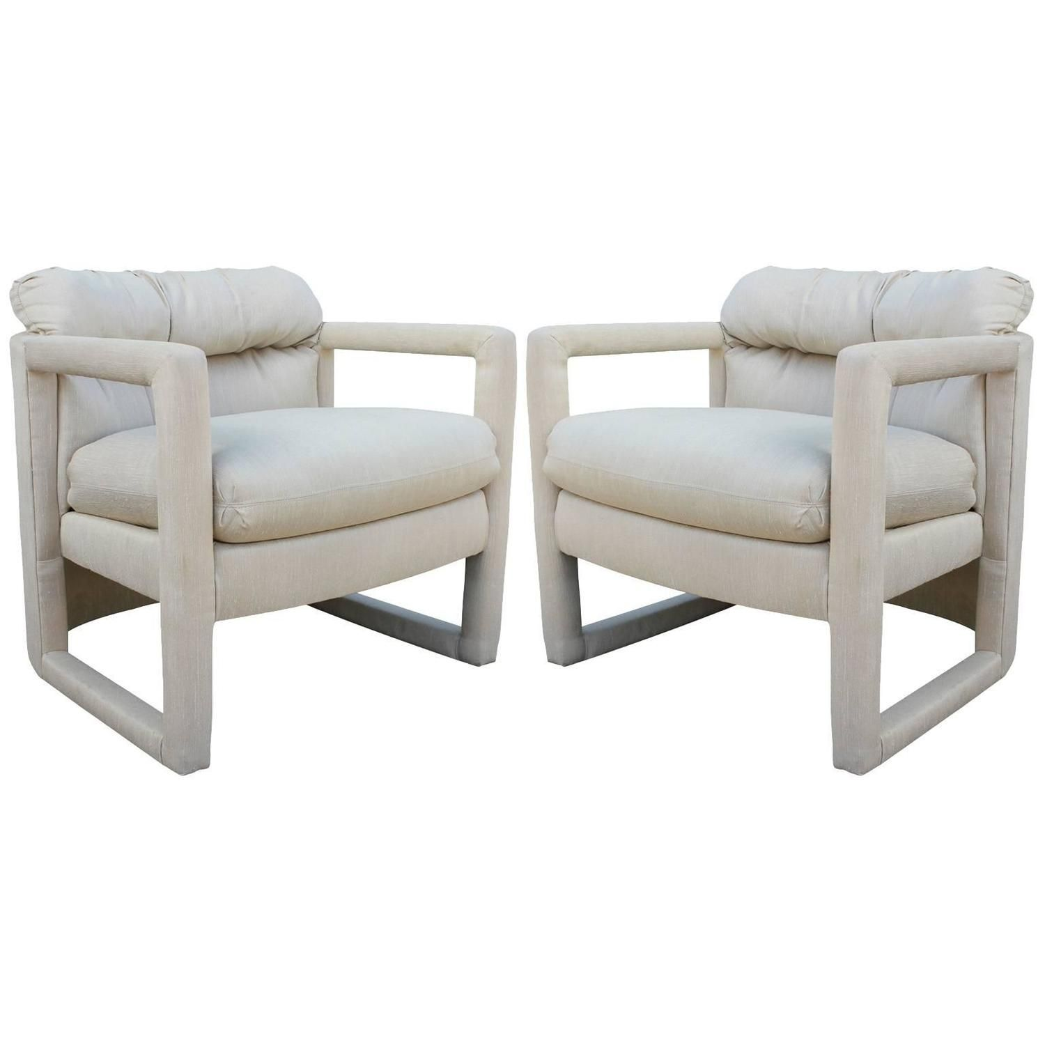 1.8 Fabulous Pair Of Drexel Barrel Back Parsons Chairs | From A Unique  Collection Of Antique And Modern Lounge Chairs At ...