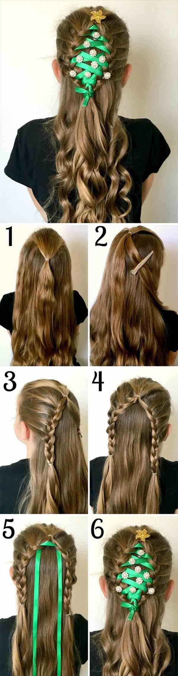 Best Christmas Hair Ideas For Girls With Long Hair Cute Christmas Hairstyles Littlegirls Princess Hair Styles Long Hair Girl Long Hair Styles