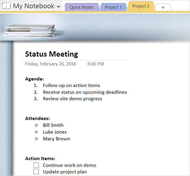 How to adopt onenote templates for project management pronofoot35fo Gallery