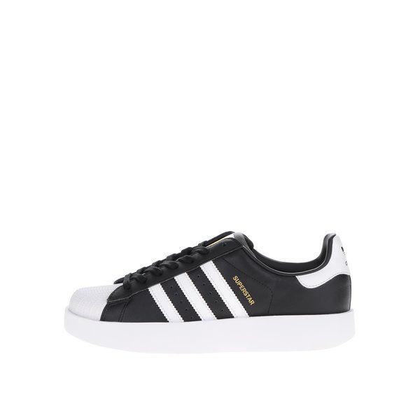 20% Pantofi sport negri cu platformă adidas Originals Superstar cu ...