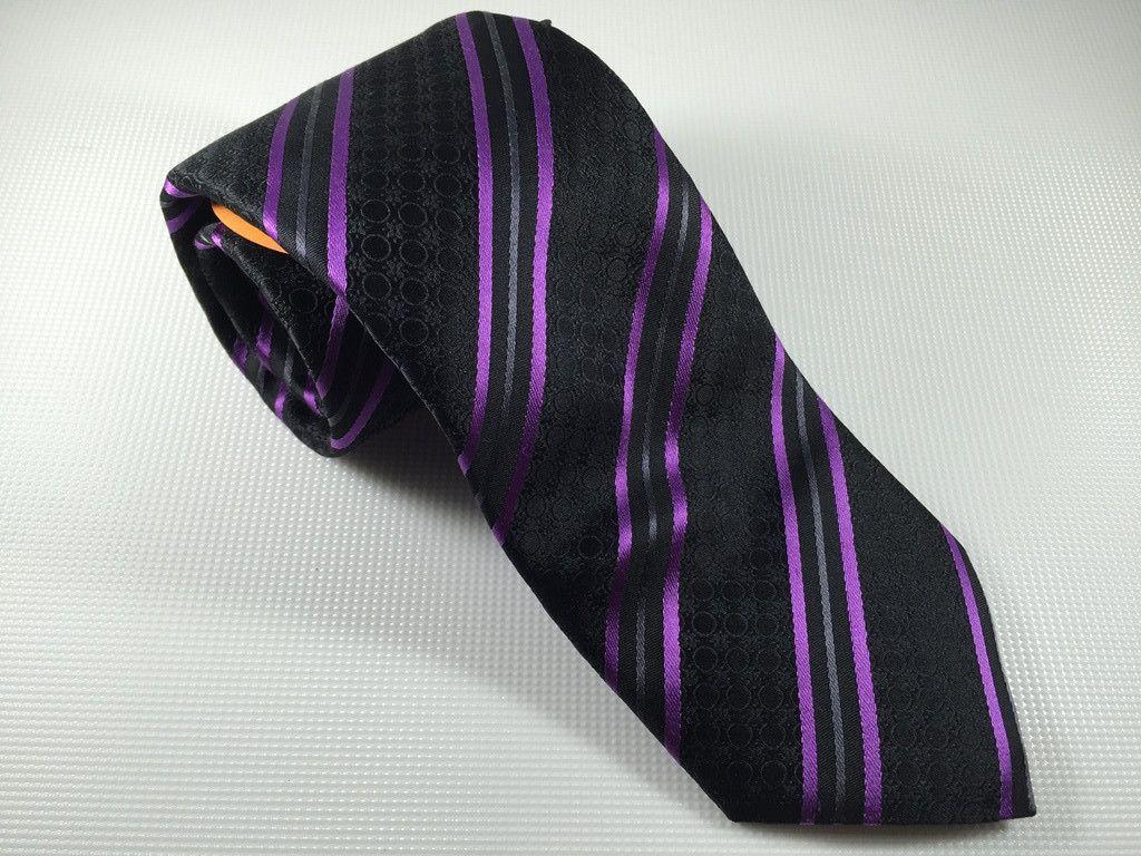Ted Baker Lavender Stripe Silk Tie
