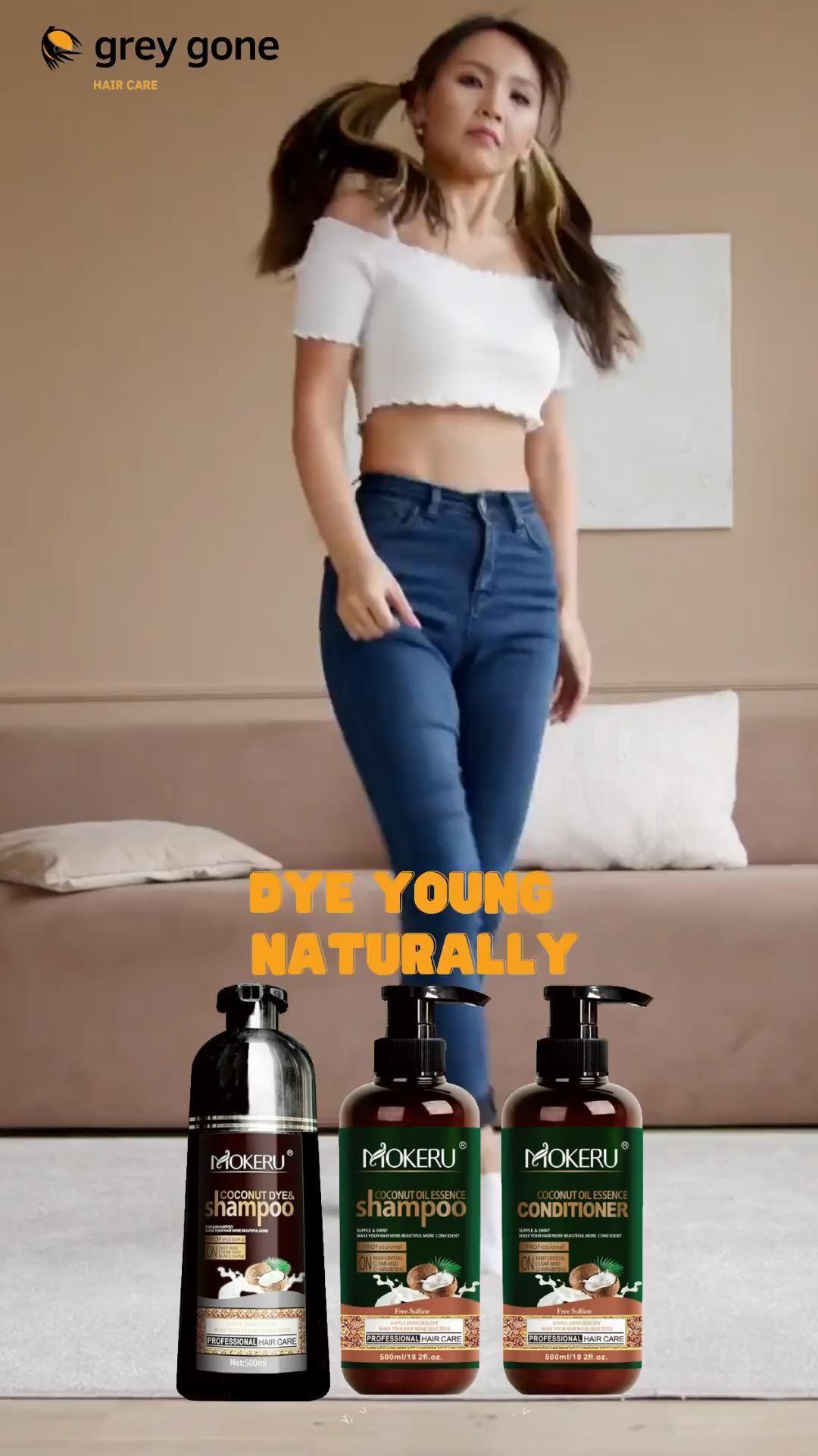 Natural Hair Dye-Shampoo