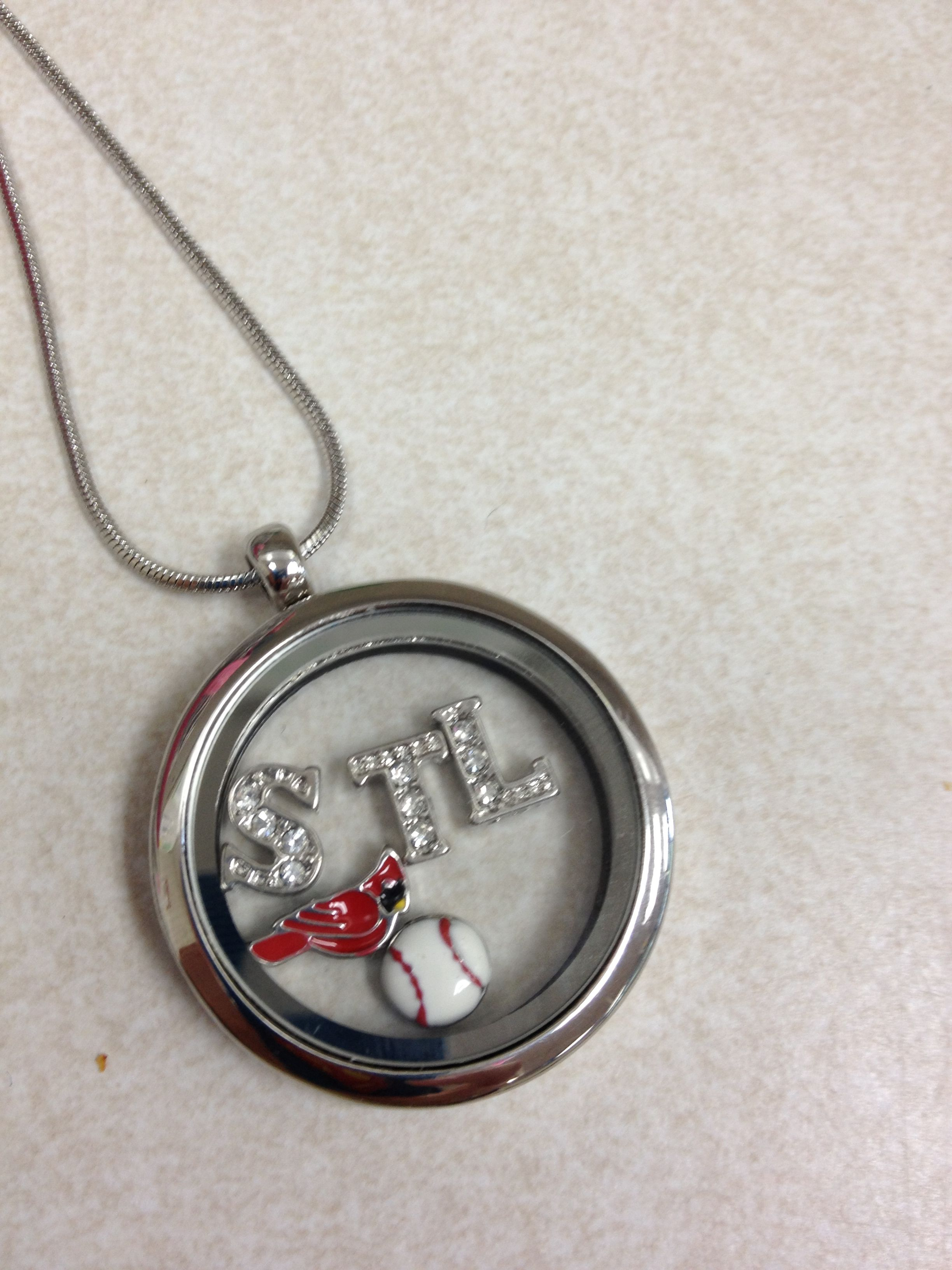 Origami Owl St. Louis Cardinals necklace | Origami owl ... - photo#37