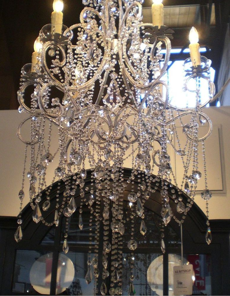 Large Chandelier Shabby French Provincial Light 6 Arm Anastasia