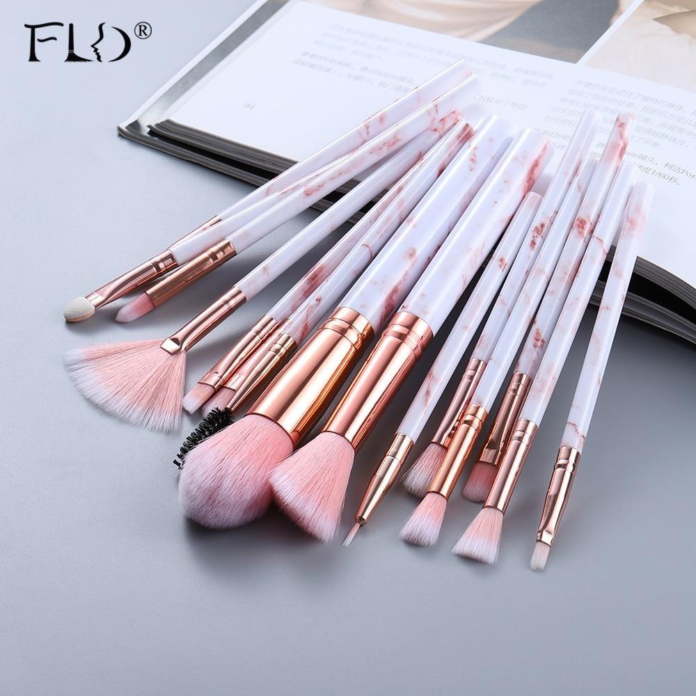 FLD5/15Pcs Makeup Brushes Tool Set Cosmetic Powder Eye