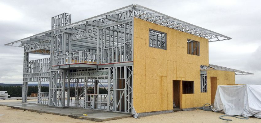 casas modulares aço LIGHT STEEL FRAME Pinterest Steel frame