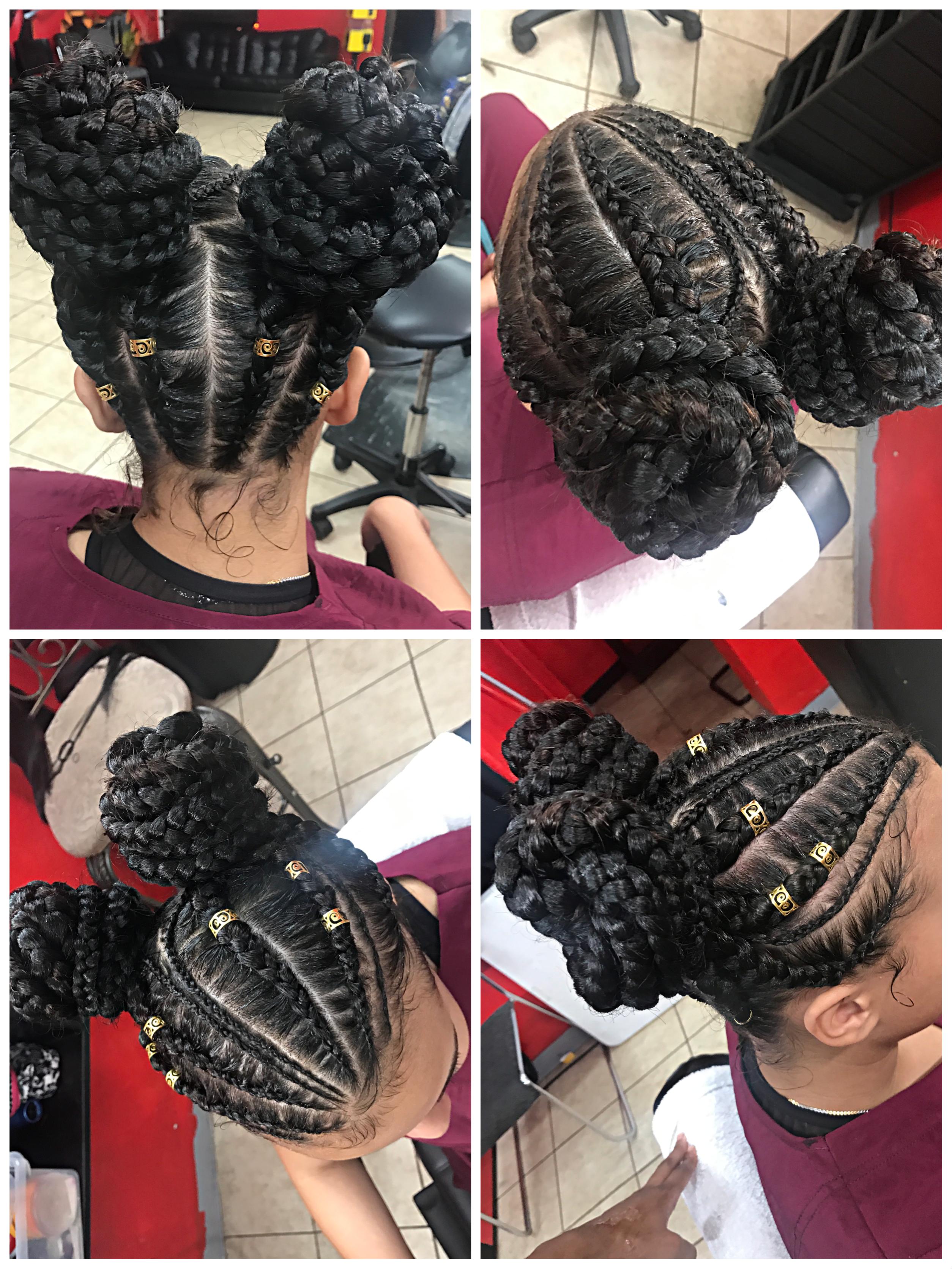 Two buns feedin braids hairstyles pinterest hair braids and