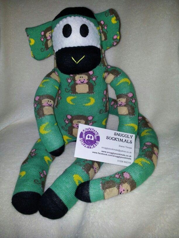 Sock Monkey Www.snugglysockimals.co.uk