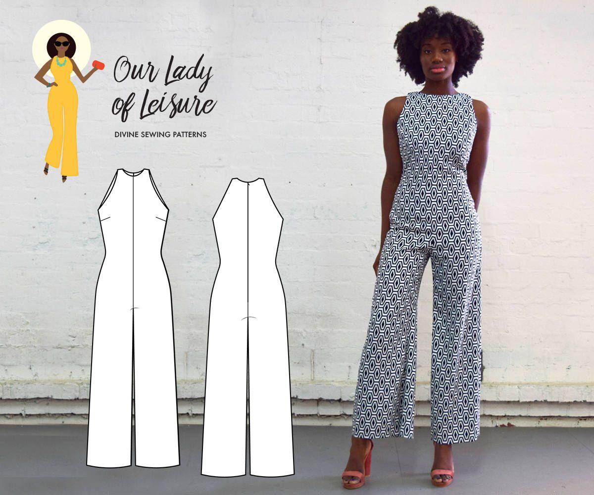 The Paloma Jumpsuit PDF Pattern - Women\'s Sleek Palazzo Jumpsuit ...
