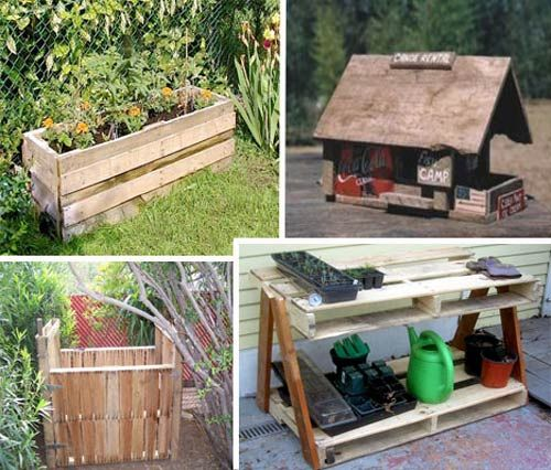 Pallet or skid wood like the table compost bin our for Skid pallet furniture