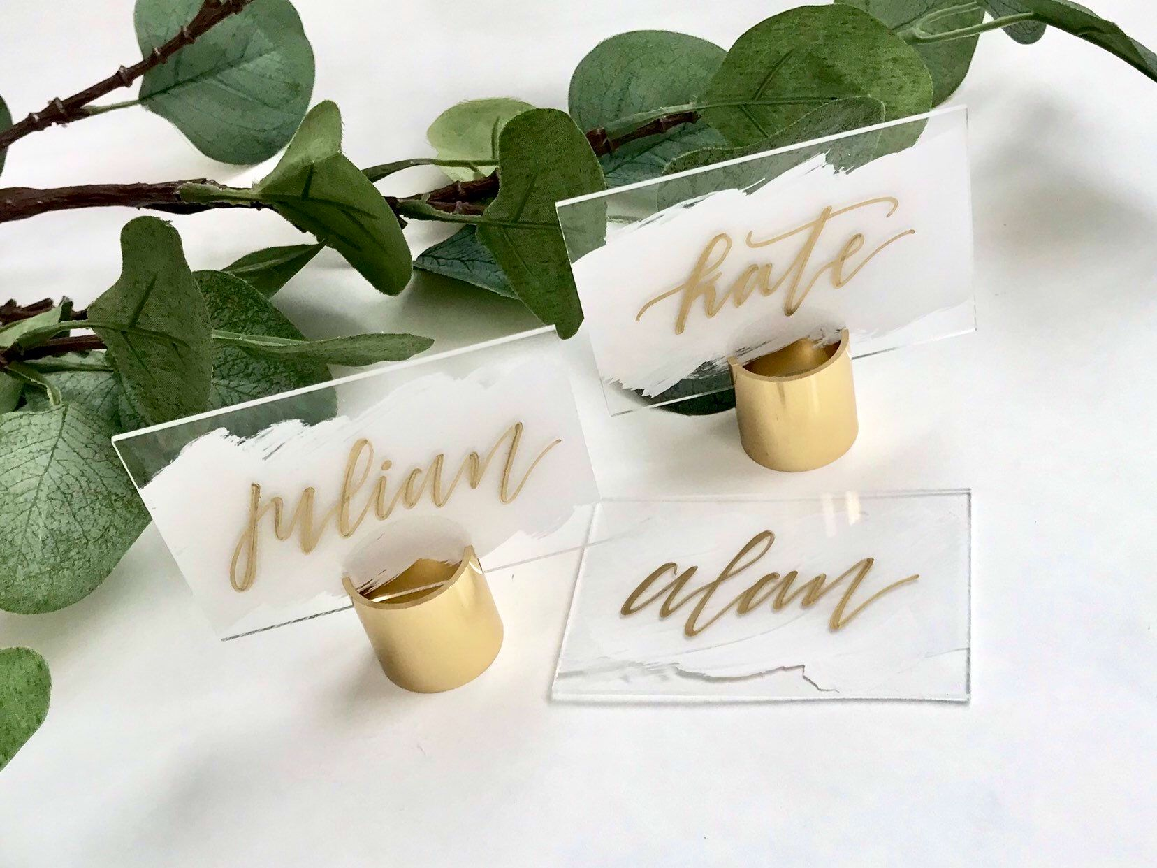 Acrylic Brush Stroke Place Cards Wedding Name Card Seating Signs Wedding Name Plates Event Weddin Wedding Name Cards Wedding Place Cards Wedding Cards
