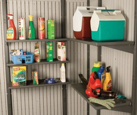 Lifetime 5 Piece 30 X 14 In Shelf Accessory Kit For 11 Ft Storage Buildings 0115 Storage Shed Organization Storage Shed Kits Plastic Sheds