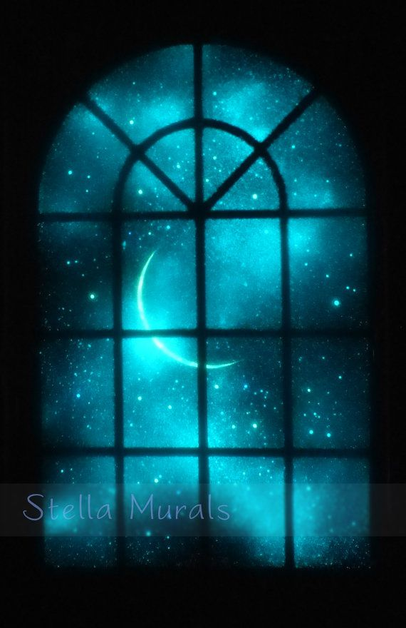 Glow In The Dark Painting Romantic Starlight Decor Etsy Dark Paintings Neon Painting Glow Paint