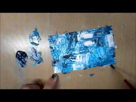 Mixed Media Index Card a Day(ICAD2014) #10 - YouTube