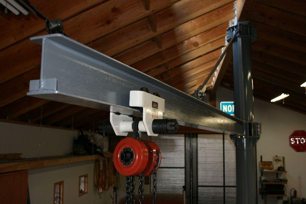 custom garage IBEAM ROTATING JIB CRANE Lift and Crane