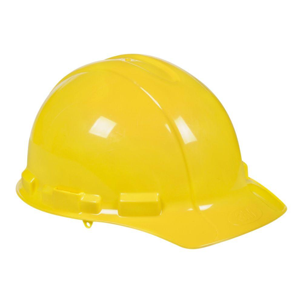 Yellow Hard Hat With Ratchet Adjustment Hard Hat Hats Hard Hats
