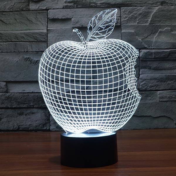 Bitten Apple Colorful 3d Led Lamp 3d Led Lamp Lamp Led Lamp