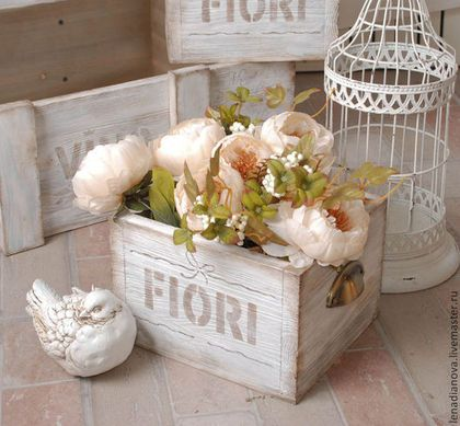 ящик для цветов Fiori белыйпровансстильинтерьер