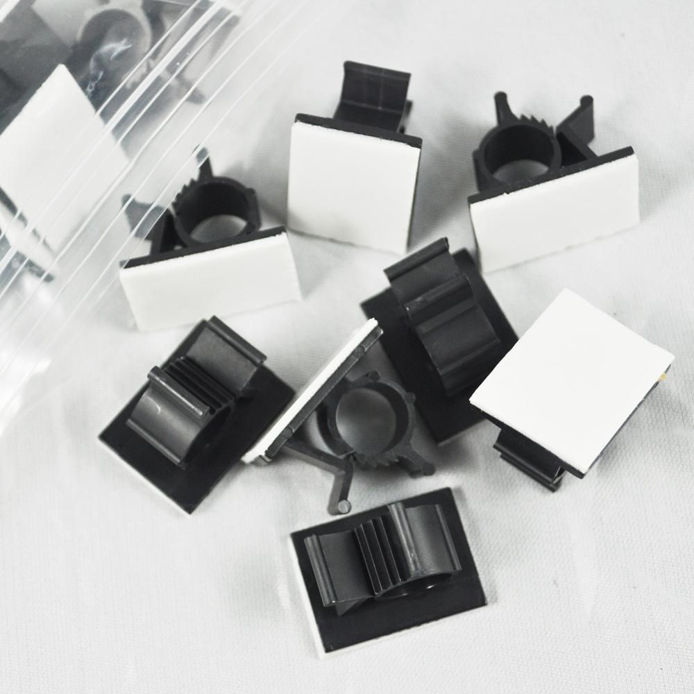 Visit to Buy] New Style 25 Pcs Black Adhesive Backed Nylon Wire ...