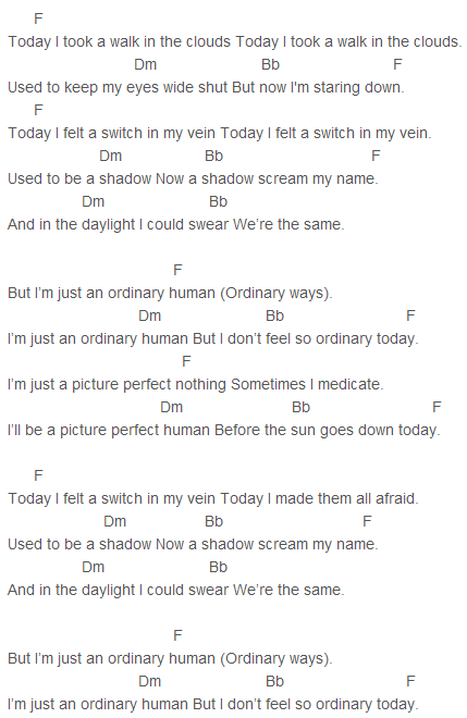 I\'m just an ordinary human but I don\'t feel so ordinary today ...