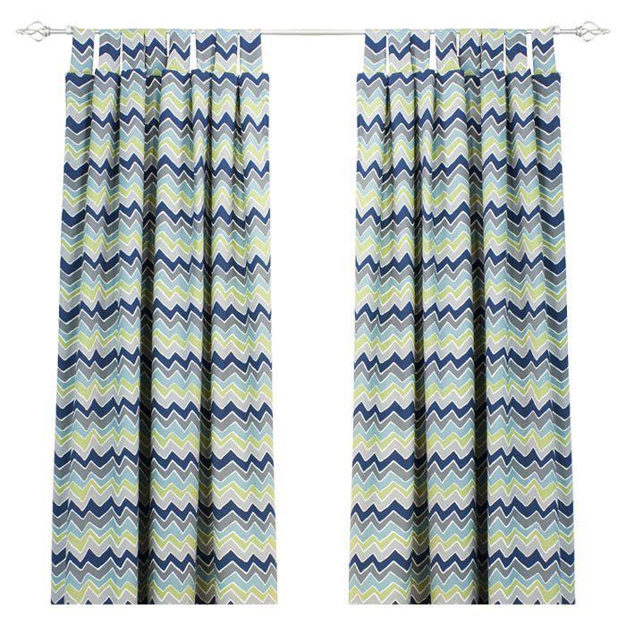 See Saw Felix Cotton Tab Top Single Curtain Panel