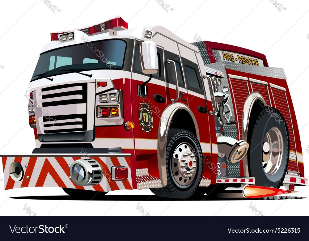 Cartoon Firetruck Royalty Free Vector Image Vectorstock Sponsored Royalty Firetruck Cartoon Free A Fire Truck Drawing Fire Trucks Rescue Vehicles