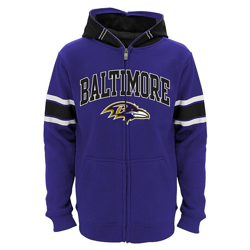 Boys 8-20 Baltimore Ravens Helmet Hoodie, Boy's, Size: Xl(18/20), Purple
