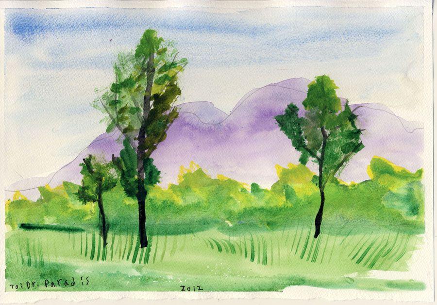 Easy watercolor paintings easy watercolor paintings of for Easy watercolor ideas for kids