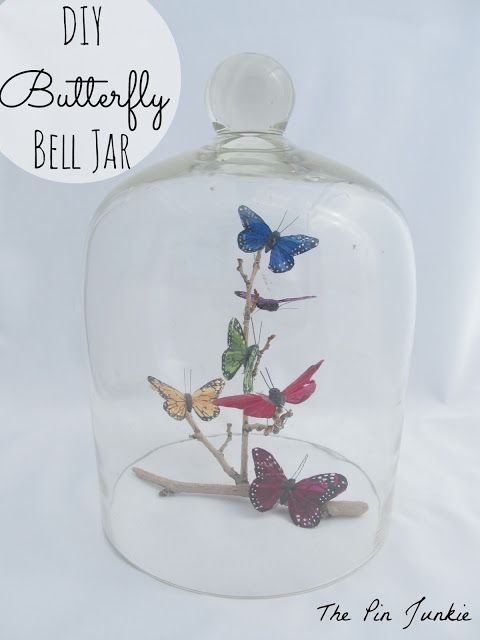 Bell Jar Decorating Ideas Butterfly Bell Jar  Diy Butterfly Bell Jars And Butterfly